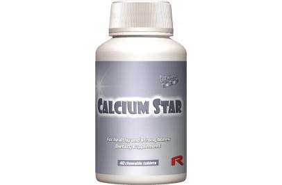 STARLIFE CALCIUM STAR, 40 tbl - kalciumot tartalmazó vanília ízű rágótabletta cukorral és édesítőszerrel, étrend-kiegészítő készítmény (STARLIFE-6185)