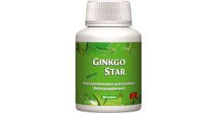 STARLIFE GINKGO STAR, 90 tbl - ginkgo biloba levél-kivonat tartalmú étrend-kiegészítő tabletta a keringési rendszer egészséges működéséért (STARLIFE-7162)