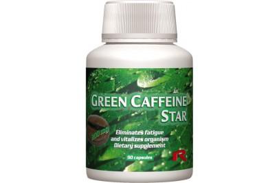 STARLIFE GREEN CAFFEINE STAR, 90 cps - Zöldtea alapú étrend-kiegészítő kapszula koffeinnel, B6-vitaminnal és krómmal (STARLIFE-1212)
