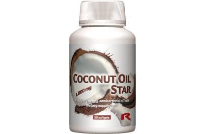 STARLIFE COCONUT OIL STAR, 50 sfg - Kókuszolaját tartalmazó lágyzselatin étrend-kiegészítő kapszula (STARLIFE-1425)