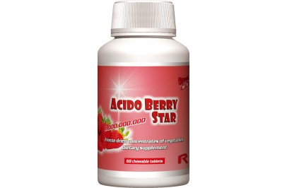 STARLIFE ACIDO BERRY STAR, 60 tbl  (STARLIFE-6715)