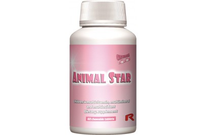 STARLIFE ANIMAL STAR, 60 tbl - Étrend-kiegészítő gyermekeknek, vitaminokkal, ásványi anyagokkal és antioxidánsokkal (STARLIFE-6146)