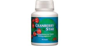 STARLIFE CRANBERRY STAR, 90 sfg - Tőzegáfonya kivonatát tartalmazó étrend-kiegészítő kapszula C- és E-vitaminnal (STARLIFE-1111)