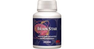 STARLIFE BRAIN STAR, 60 tbl - Halolaj, lecitin és Ginkgo biloba-kivonat tartalmú étrend-kiegészítő kapszula vitaminokkal az agy és az idegrendszer megfelelő működéséért (STARLIFE-1950)