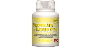 STARLIFE BROMELAIN + PAPAIN STAR, 120 tbl - bromelint és papaint tartalmazó ananász ízű étrend-kiegészítő rágótabletta cukorral és édesítőszerrel (STARLIFE-6270)