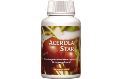 STARLIFE ACEROLA STAR, 60 tabletta, acerola gyümölcsöt tartalmazó rágótabletta (STARLIFE-1000)